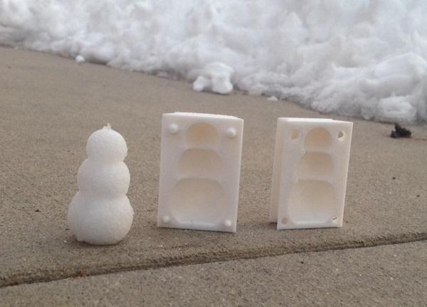 十秒一个 如何用3D打印堆出雪人大军?