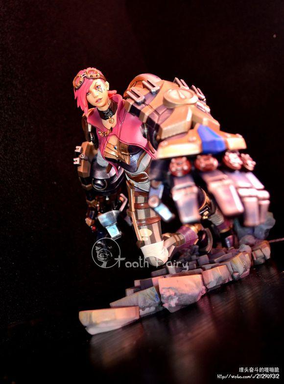 图赏 3D打印的英雄联盟VI人物