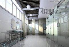 <b>3DMAX灯光阵列光能传递渲染玻璃卫生间教程</b>