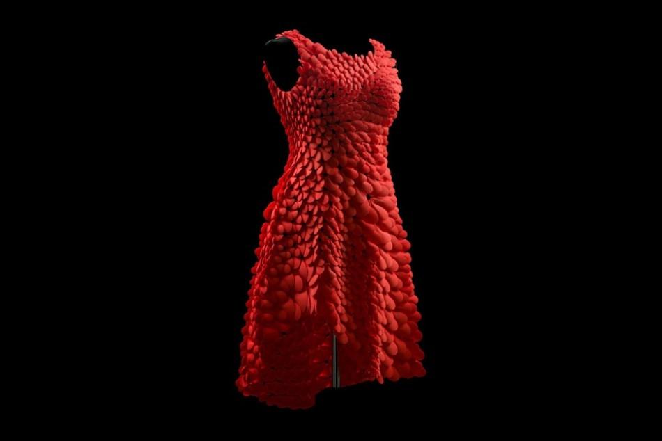 1600片拼装的超美3D打印红裙