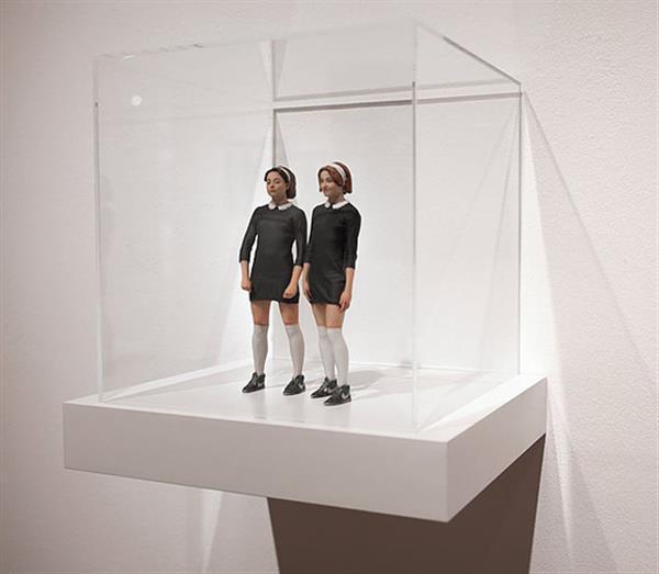 艺术家把古典名画3D打印成雕塑
