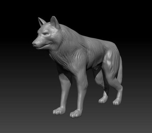 微型狼 stl文件下载(3d打印模型)