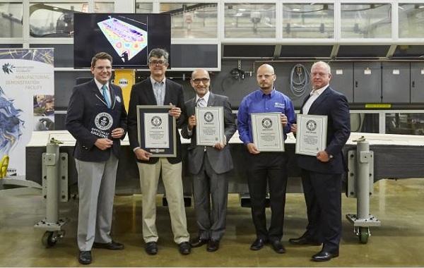 ORNL获最大固体3D打印物品吉尼斯世界纪录