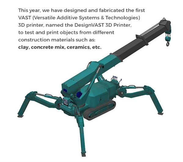 新型建筑3D打印机:能用水泥,还能打粘土、木材等材料