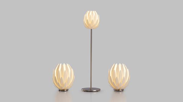 kyttanen所设计的一款家用照明产品——莲花灯