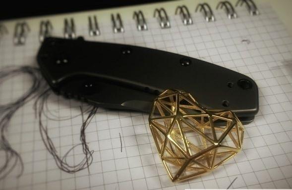 3D打印的心形结构