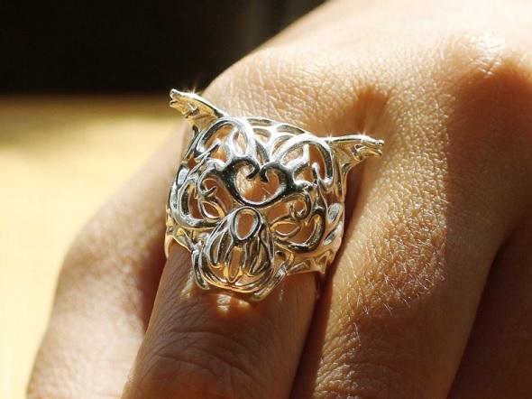 3D打印的虎面戒指