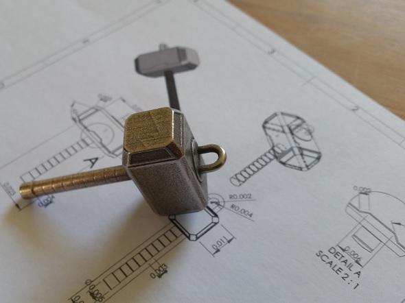 3D打印的小雷锤