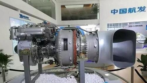 中航发动机集团亮相了他们最新研制的航空发动机模型