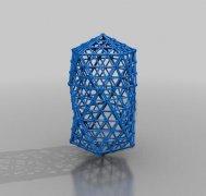 水晶牢笼 STL文件下载(3D打印模型)