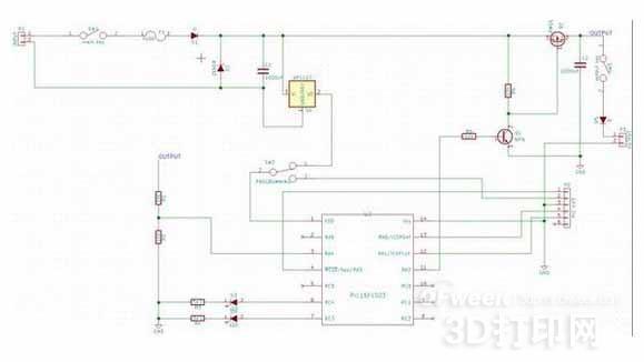 在电路的输入端我用了一个热熔断保险丝和齐纳二极管