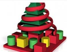圣诞树和礼物 STL文件下载(3D打印模型)