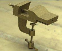 虎钳  STL文件下载(3D打印模型)