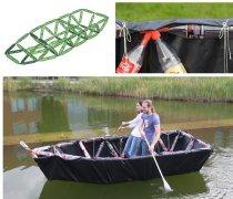 环保小发明 废饮料瓶+3D打印连接件造船
