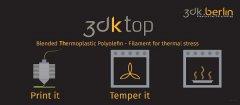 全球首个可用于普通打印机的4D打印线材,耐230度高温