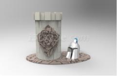创客空间课程:魔兽笔筒3D打印模型教程