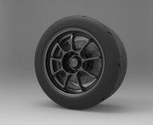 赛车轮毂和轮胎 STL文件下载(3D打印模型)