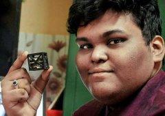 印度少年创造世界最轻卫星 碳纤维3D打印仅重64克