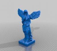 天使雕像 STL文件下载(3D打印模型)