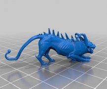 龙狮雕塑 STL文件下载(3D打印模型)