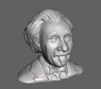 爱因斯坦 STL文件下载(3D打印模型)