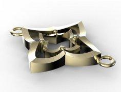 星星吊坠 STL文件下载(3D打印模型)