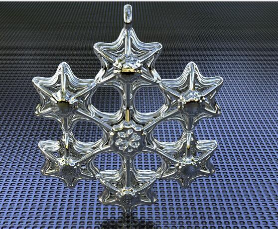星型吊坠设计 STL文件下载(3D打印模型)