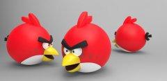 愤怒的小鸟吊坠 STL文件下载(3D打印模型)