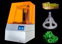 装有F-theta镜头!首个激光点达到50微米的桌面SLA 3D打印机999美