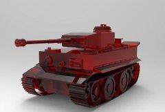 主战坦克 STL文件下载(3D打印模型)