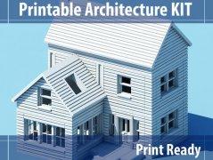 可组装建筑 STL文件下载(3D打印模型)