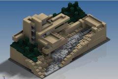 乐高流水别墅 STL文件下载(3D打印模型)