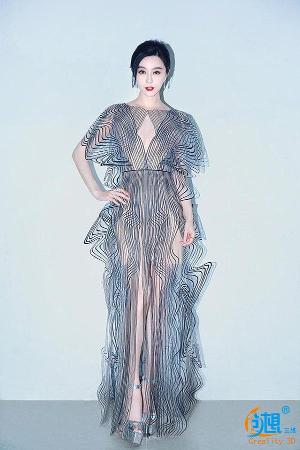 范冰冰穿3D打印裙惊艳全场  3D打印服装或将引领时尚潮流