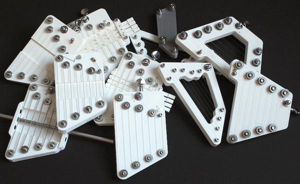 3D打印竖琴TuneFast:一根弦就能产生整个八度的音符