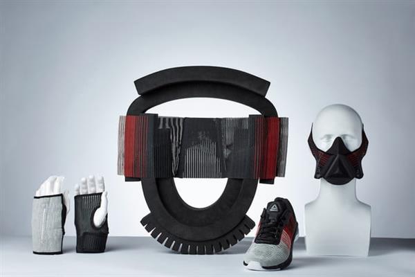 Modla展示锐步新推出的带有3D打印训练面具的Flexweave材料