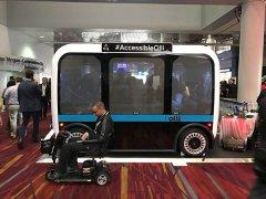 3D打印无人车可主动放出供轮椅使用的坡道