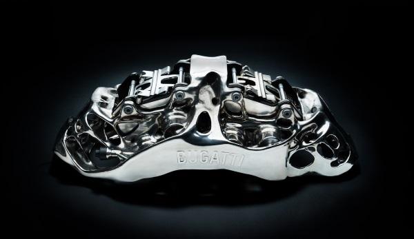 布加迪开发世界上最大的3D打印钛制动钳,却只有6.4磅