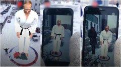 俄罗斯创客使用AR技术打造40英尺高的普京像