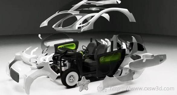全球首款量产3D打印电动汽车诞生!汽车个性化制造时代来临
