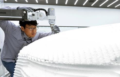 产能布局,黑科技,前瞻技术,现代摩比斯3D打印实验室,现代摩比斯设计模型车间,现代摩比斯定制化零件
