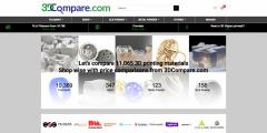 3DCOMPARE 可在线比对11,000种3D打印材料