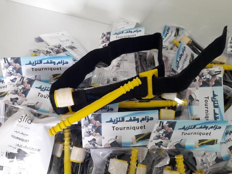 研究员为加沙暴力袭击受伤人员开发3D打印止血带