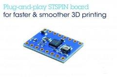 意法半导体高速、高分辨率电机驱动板,使开源3D打印机性能最大化