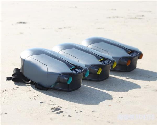 时速可达8英里的世界上第一款3D打印水下喷气背包CUDA问世