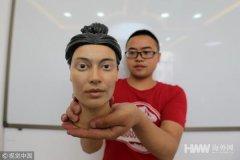 西安西北大学借3D打印技术还原古人真容