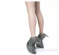 3D打印高跟鞋Mycelium Shoe,前卫与舒适兼俱