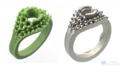 创想三维:3D打印珠宝蜡模的原理和过程