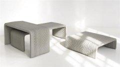 Studio 7.5和XtreeE合作3D打印令人惊叹的编织混凝土长凳