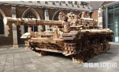 英国艺术家借助3D打印技术打造了这辆等比例的坦克模型