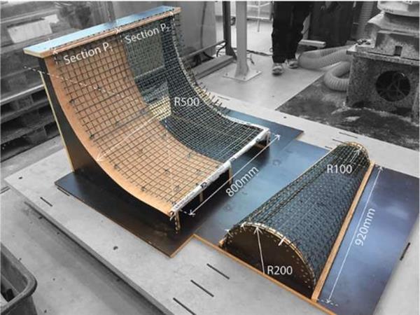 新的SCRIM 混凝土3D打印使用网格来生产轻质结构